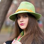 """Аксессуары ручной работы. Ярмарка Мастеров - ручная работа Шляпа """"Зеленое яблоко"""". Handmade."""
