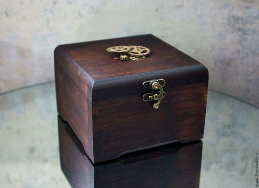Шкатулки ручной работы. Ярмарка Мастеров - ручная работа. Купить Деревянная коробка для часов. Handmade. Коричневый, шкатулка, ящик из дерева