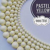 Бусины ручной работы. Ярмарка Мастеров - ручная работа Кристальный жемчуг Swarovski, Pastel Yellow Pearl, 4мм. Handmade.