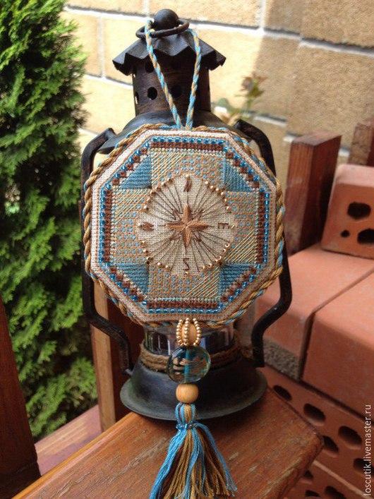 """Вышивка ручной работы. Ярмарка Мастеров - ручная работа. Купить Схема для вышивки """"Старинный компас"""". Handmade. Разноцветный, тгольница, мулине"""