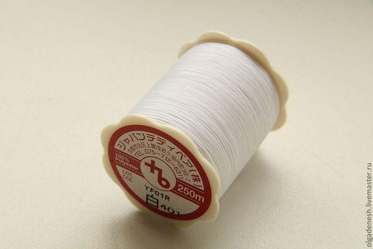 Шитье ручной работы. Ярмарка Мастеров - ручная работа. Купить Японские нитки №403. Handmade. Белый, нитки полиэстр