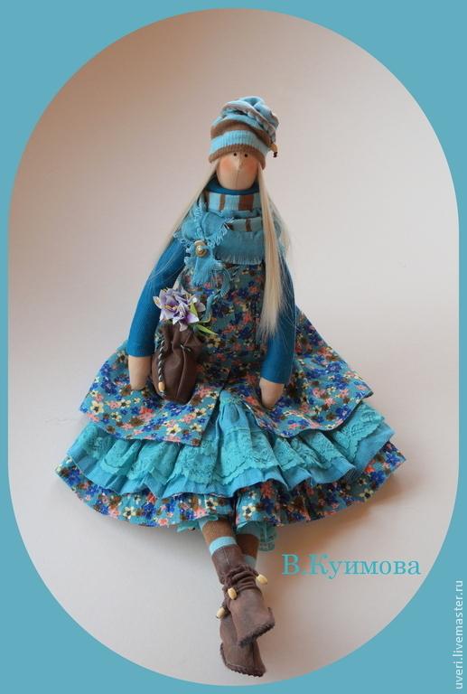 Куклы Тильды ручной работы. Ярмарка Мастеров - ручная работа. Купить Кукла тильда Иринка-Бирюзинка. Handmade. Тёмно-бирюзовый
