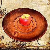 Тарелки ручной работы. Ярмарка Мастеров - ручная работа Кедровая тарелка 39см, блюдо из сибирского кедра - ручная работа #T6. Handmade.