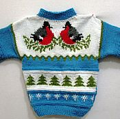 Работы для детей, handmade. Livemaster - original item sweater for kids. Hello, Bullfinches!. spokes.. Handmade.