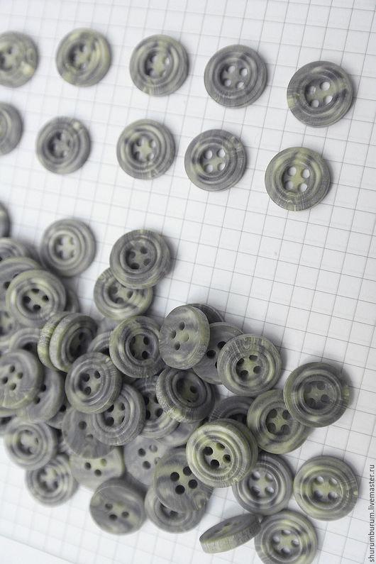 Шитье ручной работы. Ярмарка Мастеров - ручная работа. Купить пуговица имитация роговых 4 прокола пластик 15 мм. Handmade.