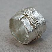 """Украшения ручной работы. Ярмарка Мастеров - ручная работа Серебряное кольцо """"Самородок """", широкое кольцо серебро Футуризм. Handmade."""