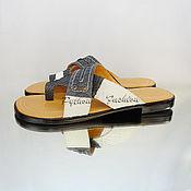 Обувь ручной работы handmade. Livemaster - original item Sandals from Python ZEUS. Handmade.