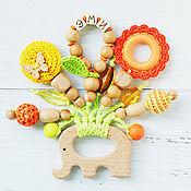 Одежда handmade. Livemaster - original item Personalized teething toy elephant with pendants. Handmade.