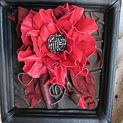 """Картины и панно ручной работы. Ярмарка Мастеров - ручная работа Картина из натуральной кожи """"Цветы юга"""". Handmade."""