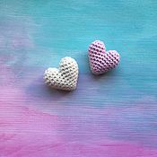 """Повязки ручной работы. Ярмарка Мастеров - ручная работа Брошка """"Вязаное сердечко"""" (резинка,заколка,повязка). Handmade."""