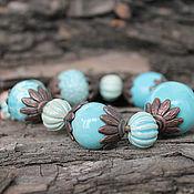 """Bead bracelet handmade. Livemaster - original item Браслет """"Сны Шехеразады"""" керамоческие бусины ручной работы.. Handmade."""