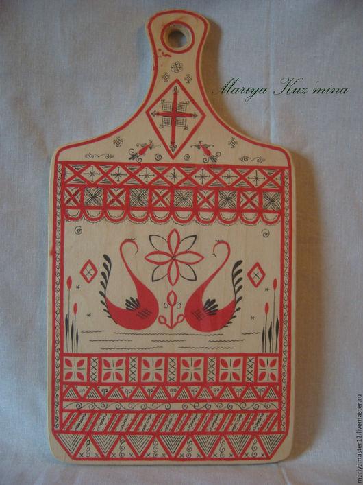 Быт ручной работы. Ярмарка Мастеров - ручная работа. Купить Мезенская роспись. Handmade. Комбинированный, мезенская роспись, для кухни