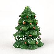 Материалы для творчества handmade. Livemaster - original item Silicone molds for soap Christmas tree with mini pine cones. Handmade.