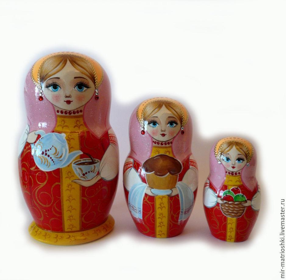 matryoshka 3 local 'Alenka', Dolls1, Sarov,  Фото №1