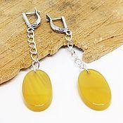 Украшения handmade. Livemaster - original item Earrings with yellow agate. Handmade.