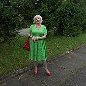 """Одежда ручной работы. Ярмарка Мастеров - ручная работа Платье """"Зеленое яблоко"""". Handmade."""