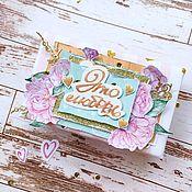 Свадебный салон ручной работы. Ярмарка Мастеров - ручная работа Свадебная коробочка для денег. Handmade.