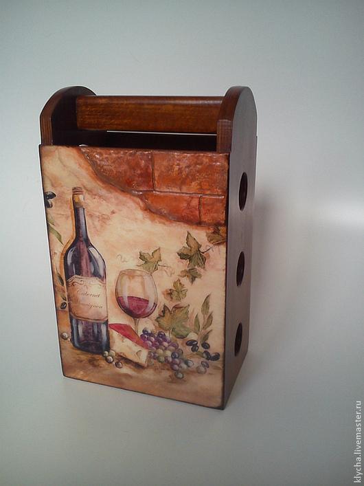 Персональные подарки ручной работы. Ярмарка Мастеров - ручная работа. Купить мини-бар. Handmade. Коричневый, для вина, подарки из дерева