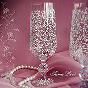 Свадебный салон ручной работы. Ярмарка Мастеров - ручная работа Свадебные бокалы Sweety. Handmade.