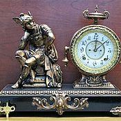 Старинные каминные часы, Ansonia,1881г