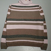 Пуловеры ручной работы. Ярмарка Мастеров - ручная работа Пуловеры:полосатый пуловер. Handmade.