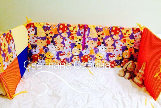 Текстиль, ковры ручной работы. Ярмарка Мастеров - ручная работа. Купить Бортики в детскую кроватку. Handmade. Бортики в кроватку, в кроватку