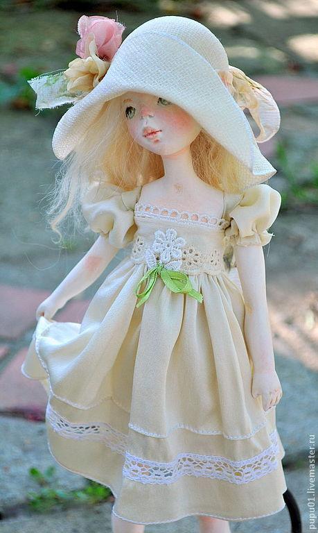 Коллекционные куклы ручной работы. Ярмарка Мастеров - ручная работа. Купить Лето. Handmade. Бежевый, котик