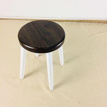 Мебель ручной работы. Ярмарка Мастеров - ручная работа Табурет модель LUNA темный. Handmade.
