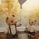 Мишки Тедди ручной работы. Заказать Доверие.... Оля Белозёрова. Ярмарка Мастеров. Золотой, Вязание крючком, подарок, авторский мишка