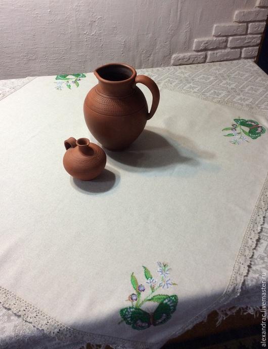 """Кухня ручной работы. Ярмарка Мастеров - ручная работа. Купить Салфетка большая """" Дуновение весны"""". Handmade. Серый, бабочка"""