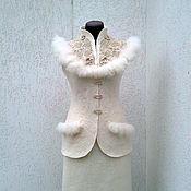 Одежда ручной работы. Ярмарка Мастеров - ручная работа Костюм валяный по мотивам жилета Лебедь. Handmade.