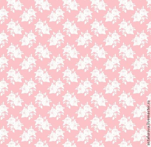 Шитье ручной работы. Ярмарка Мастеров - ручная работа. Купить арт. 480013 Tilda Ткань БЕЛЫЕ РОЗЫ. Handmade.