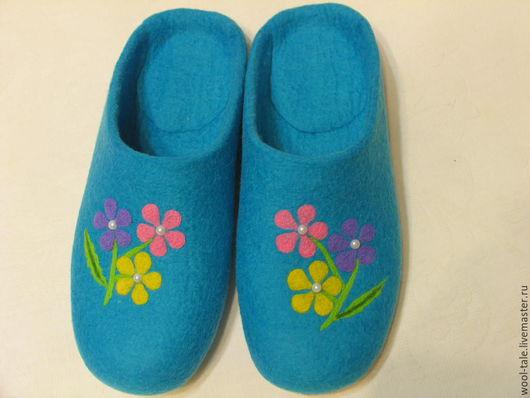 """Обувь ручной работы. Ярмарка Мастеров - ручная работа. Купить тапочки валяные из мериносовой шерсти """"Хорошее настроение"""". Handmade."""