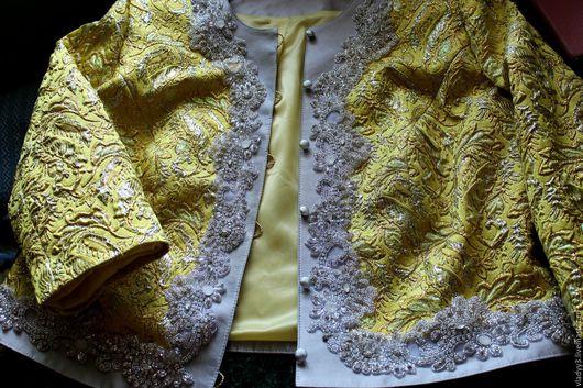 Пиджаки, жакеты ручной работы. Ярмарка Мастеров - ручная работа. Купить жакет для особого случая из ткани gucci. Handmade. Серебряный