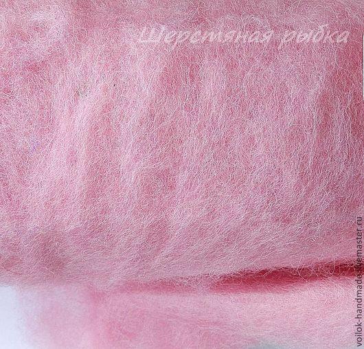 Валяние ручной работы. Ярмарка Мастеров - ручная работа. Купить Кардочёс Новозеландский (латвийский)-шерсть для валяния-розовый. Handmade. Шерсть