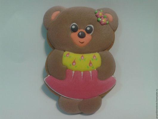 """Персональные подарки ручной работы. Ярмарка Мастеров - ручная работа. Купить Детский пряник  """"Медведь """". Handmade. Медведь, подарок"""