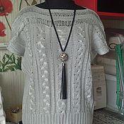 Одежда ручной работы. Ярмарка Мастеров - ручная работа летний джемпер Шёлк. Handmade.