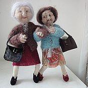 Куклы и игрушки handmade. Livemaster - original item Interior doll is made of wool. Grandma No. №2. Handmade.