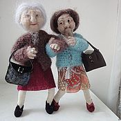 Куклы и пупсы ручной работы. Ярмарка Мастеров - ручная работа Интерьерная кукла из шерсти. Бабуля №2. Handmade.