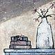 Натюрморт ручной работы. Ярмарка Мастеров - ручная работа. Купить Луч света. Handmade. Бежевый, коричневый, приглушенный, белый, цветы