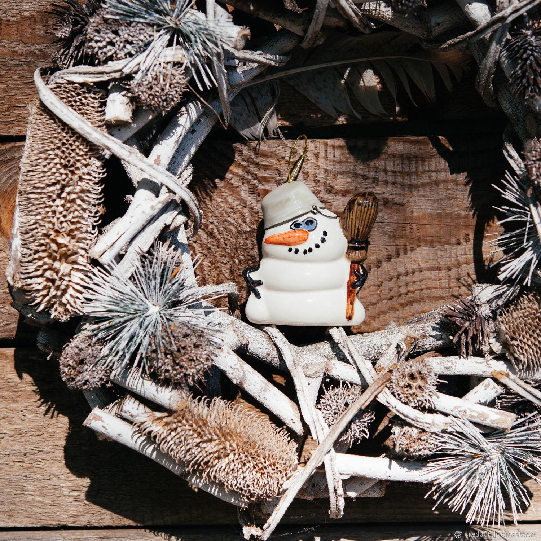 Снеговик Игрушка на елку, Елочные игрушки, Сергиев Посад,  Фото №1
