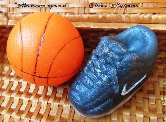 Мыло ручной работы. Ярмарка Мастеров - ручная работа. Купить Мыльный набор Баскетболисту. Handmade. Темно-серый