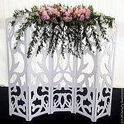 Свадебный салон ручной работы. Ярмарка Мастеров - ручная работа Аренда резной свадебной ширмы. Handmade.