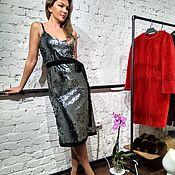 """Одежда ручной работы. Ярмарка Мастеров - ручная работа Платье-комбинация на бретельках, паетки  """"Блеск"""". Handmade."""
