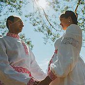 """Свадебный салон ручной работы. Ярмарка Мастеров - ручная работа Венчальный наряд для """"беременной пары"""". Handmade."""