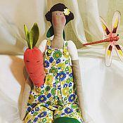 Куклы и игрушки ручной работы. Ярмарка Мастеров - ручная работа Тильда садовница. 50 см.. Handmade.