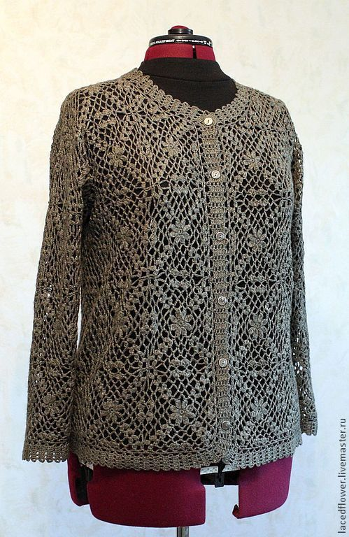 the jacket women crochet hollow-out knitted cardigan, knitted jacket, cashmere, pointelle cardigan, jacket knitted motifs, expensive gift, cashmere, silk, yarn Italy, natural materials