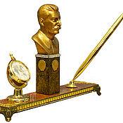 Подарки на 23 февраля ручной работы. Ярмарка Мастеров - ручная работа Подарки на 23 февраля: Бюст  Сталина -  письменный   набор.. Handmade.