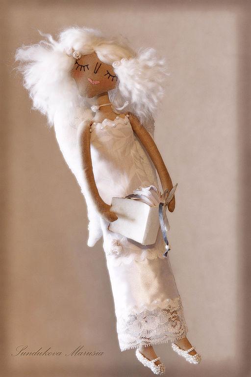 """Ароматизированные куклы ручной работы. Ярмарка Мастеров - ручная работа. Купить """"Светлый Ангел мудрости"""" - авторская кофейная куколка.. Handmade."""