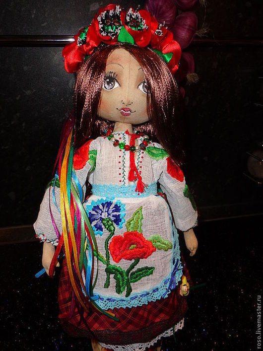 Коллекционные куклы ручной работы. Ярмарка Мастеров - ручная работа. Купить Марыся украинка. Handmade. Подарок, хохлушка, акриловые краски